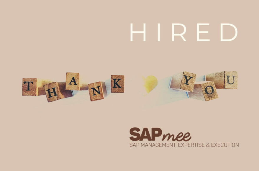 Welcome Consultor SAP SD/MM