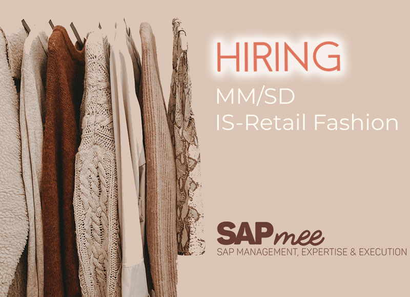 ¿Consultor SAP SD/MM IS-Retail Fashion?